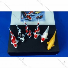 手绘陶瓷小号模型鱼(一套6只)
