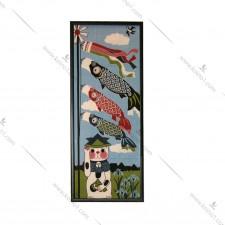 日本全绵条幅- 招财猫+锦鲤