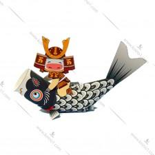 3D纸锦鲤模型DIY套件 儿童手工