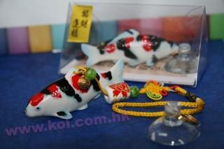 仿陶瓷锦鲤汽车吊饰- 昭和