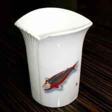 锦鲤图案花瓶- F款 秋翠