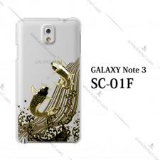 日本制锦鲤透明电话壳 三星Galaxy Note 3