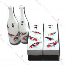 锦鲤图案酒瓶