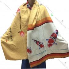 特别印制优胜鲤图案高级围巾